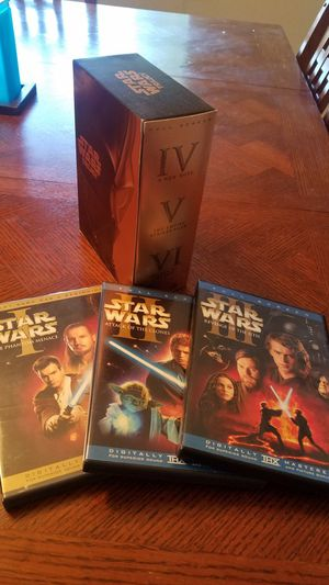 Starwars dvd box set & DVD movies 1-6 for Sale in Arvada, CO