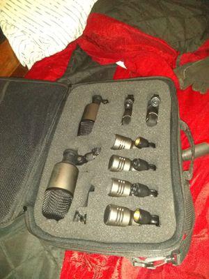 Cad kbm412. 8 piece drum microphone set for Sale in Saint AUG BEACH, FL