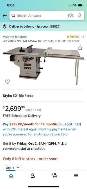 Table saw for Sale in Issaquah, WA