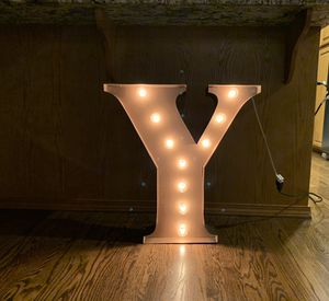 """Y"" Large Marquee Letter Light perfect for home / wedding decor 24 inches tall for Sale in Seattle, WA"