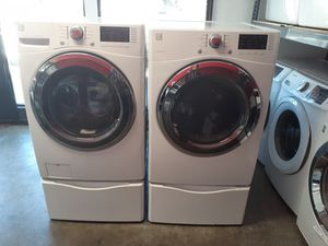 Kenmore Front Load Washer and Gas Dryer Set with Pedestals for Sale in Monterey Park, CA