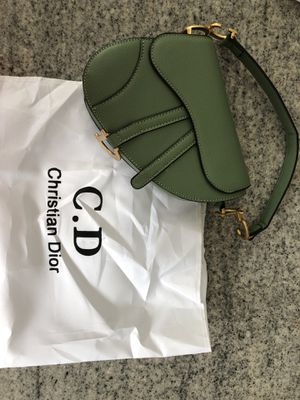 Christian Dior saddle bag- green for Sale in East Islip, NY