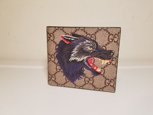 Gucci Supreme Wolf Printed Beige Leather Wallet for Sale in Queens, NY