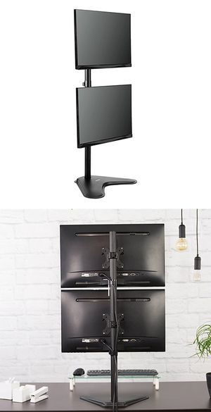 "Brand New $20 VIVO (V002L) Dual Monitor Desk Stand Mount, Holds in Vertical Position (2 Screens up to 30"") for Sale in Whittier, CA"