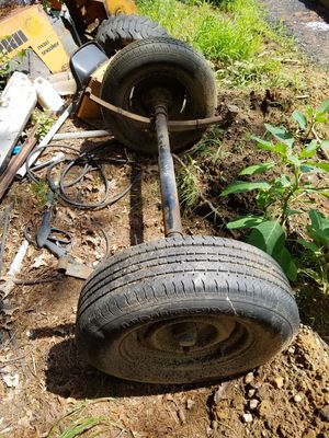 5 ft Trailer axle 15in tires for Sale in Bellingham, MA