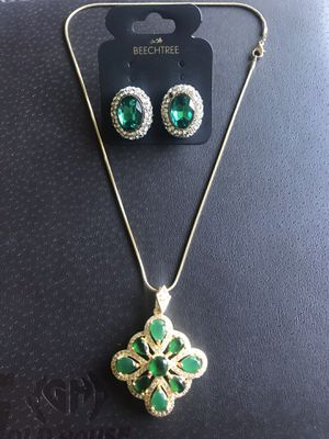 Nacklace set with chain.. gold plated. for Sale in Fairfax, VA