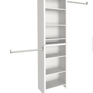 Impressions Standard 60 in. W - 120 in. W White Wood Closet System by ClosetMaid DESCRIPTION: The ClosetMaid Impressions Closet Kit helps increase the for Sale in Sugar Land, TX
