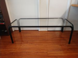 Long metal and glass patio table for Sale in Alexandria, VA