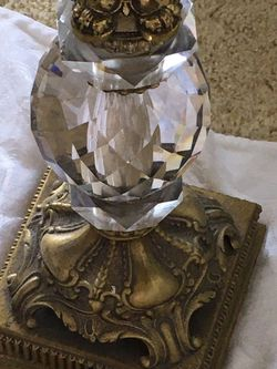 Crystal Brass Lamp Vintage for Sale in Tustin,  CA