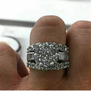 Gorgeous Round White Sapphire Engagement Ring 925 Silver for Sale in Dallas, TX