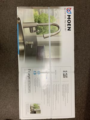Moen Edwyn Stainless Kitchen Sink Faucet W Pull Down Spray & side dispenser for Sale in North Las Vegas, NV