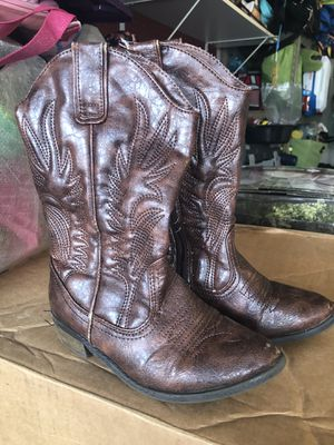 Girls cowboy boots size 13 for Sale in Fairfax Station, VA