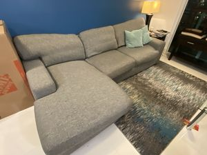 Gray Sectional Couch $149 OBO for Sale in Miami, FL