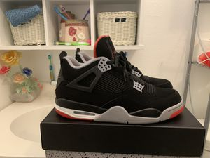 Air Jordan bred 4s size 10.5 og box for Sale in Houston, TX