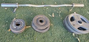 Olympic weight bar for Sale in Los Angeles, CA