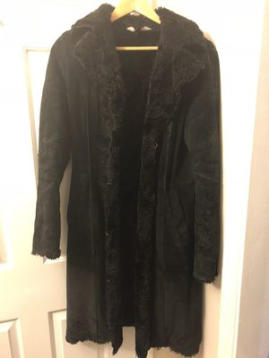 Express Leather/ Suede and faux fur coat for Sale in Crofton, MD