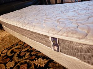 Twin Mattress set box spring bed frame Serta for Sale in Lynnwood, WA