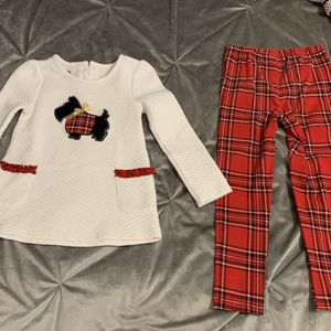 Designer Scottie Dog And Plaid Leggings Set for Sale in Spring Hill, TN