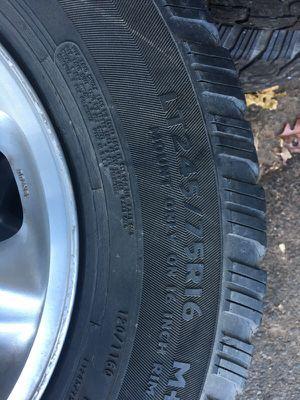 Four Isuzu Rodeo truck tires/245/75R16 for Sale in Hyattsville, MD