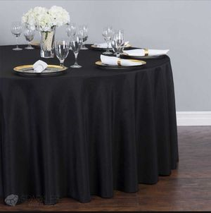 10 black wedding tablecloth for Sale in Calverton, MD