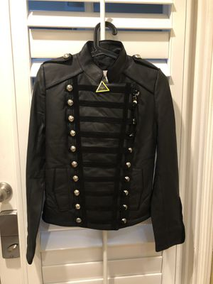 Boda Skins Women Military Style Leather Jacket US Size 2 New with Tag for Sale in Union City, CA