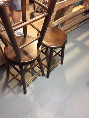 Used, 5 Oak stools chairs for Sale for sale  NJ, US
