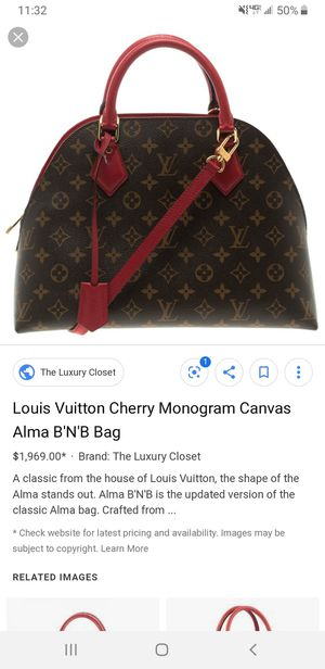 Louis Vuitton Alma B'N'B bag. Excellent condition for Sale in Dearborn Heights, MI