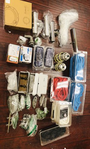 Lot - Boat & Fishing Items - Fishing Rod Holders, Pumps, Tie offs, Cup Holders, Rope and more! for Sale in Temple City, CA