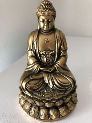 Buddah Buddha art figurine decor statue golden for Sale in Davie, FL