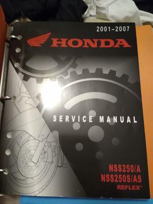Honda reflex service manual for Sale in S CHEEK, NY