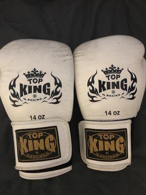 14 OZ TOP KING BOXING GLOVES for Sale in Las Vegas, NV
