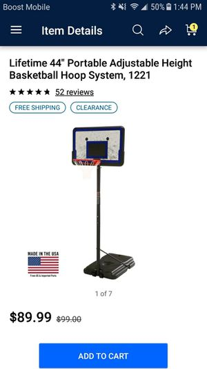 Lifetime Basketball Hoop for Sale in Groveport, OH