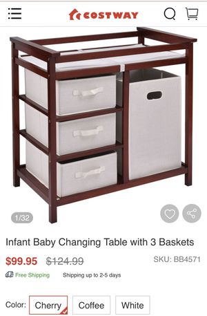 Brand new cherry changing table in box for Sale in Menifee, CA