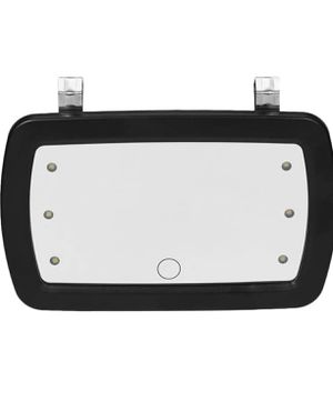 KKmoon Car Sun Visor Mirror, Makeup Sun-Shading Cosmetic Mirror, Vanity Mirror, Automobile Make Up Mirror with Six LED Lights for Sale in Las Vegas, NV