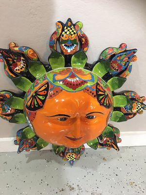Huge garden painted face display for Sale in Bedford, TX