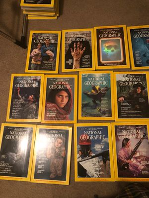 1985 National Geographic Magazines (all 12) for Sale in Winston-Salem, NC