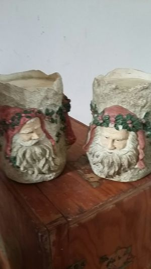 """LARGE candle holders 5""""x3.25"""" Christmas for Sale in Hillsville, VA"""