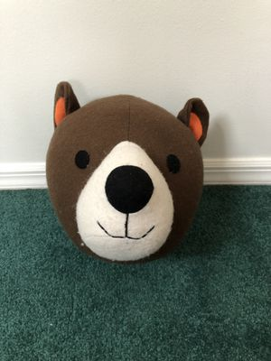 Stuffed bear head wall decoration for Sale in Rutherford, NJ
