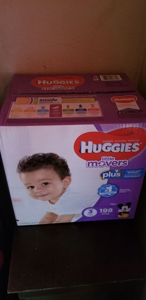 Huggies little movers size 3 198 daipers $42 firm price for Sale in Los Angeles, CA
