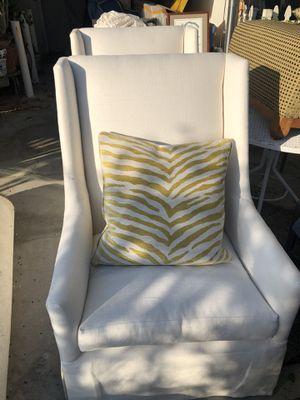 2 X-large cream colored sofa chairs for Sale in Coachella, CA