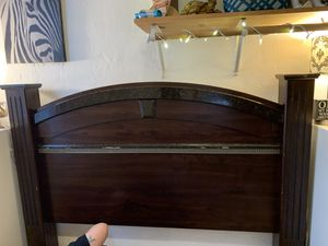 Queen bed frame. With headboard and footboard. for Sale in Sedro-Woolley, WA