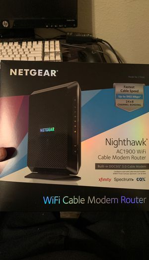 Netgear WiFi cable modem router for Sale in Fairview, TX