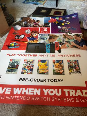 Nintendo switch Mario kart 8 promotional posters for Sale in Apple Valley, CA