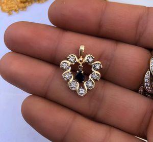 14k gold diamond sapphire heart pendant for Sale in Lynwood, CA