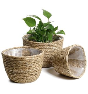 Seagrass Planter Basket - Set of 3 for Sale in West Valley City, UT