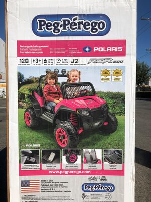 Peg Perego Polaris RZR 900 Pink Car Ride On Toy for Sale in Westminster, CA
