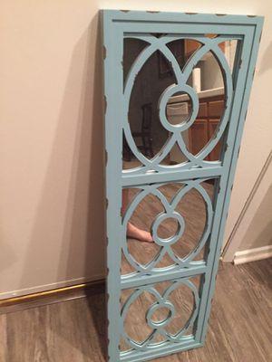 Blue rustic wall mirror for Sale in Hemet, CA