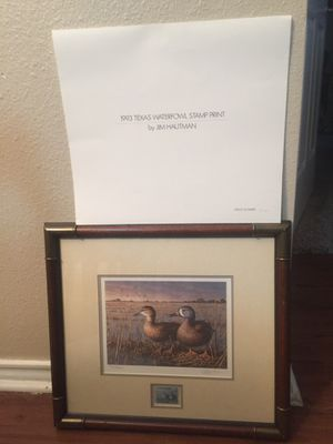 Jim Hautman , Waterfowl Stamp and Print for Sale in Corpus Christi, TX