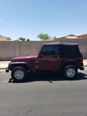 2003 Jeep Wrangler straight-six for Sale in Sun City, AZ
