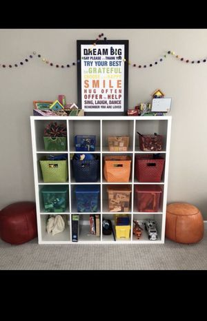 Ikea kallax cubicle storage organization shelf for Sale in Burr Ridge, IL